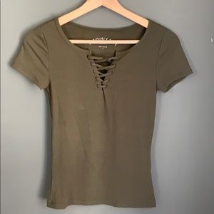 olive green soft t-shirt